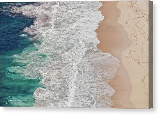 Where The Ocean Ends... Canvas Print by Andreas Feldtkeller