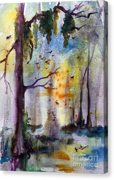 Okefenokee Canvas Print - Where Time Stands Still  by Ginette Callaway