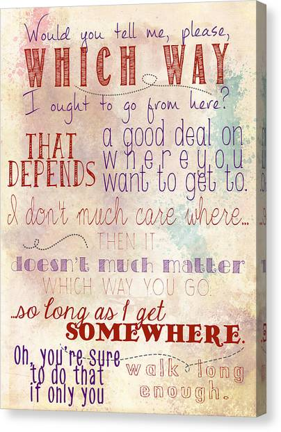 Which Way Canvas Print
