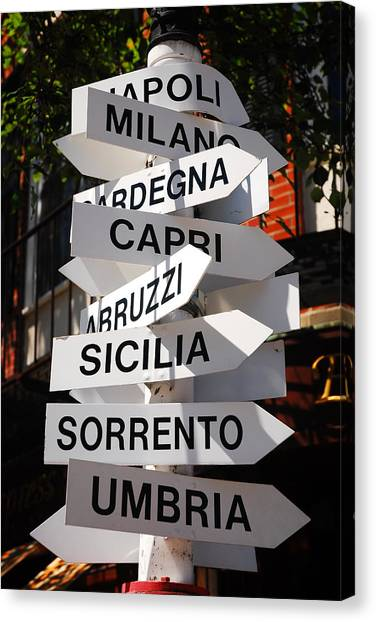 Which Way To Italy Canvas Print