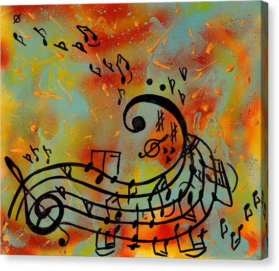 Whimsical Melody Canvas Print