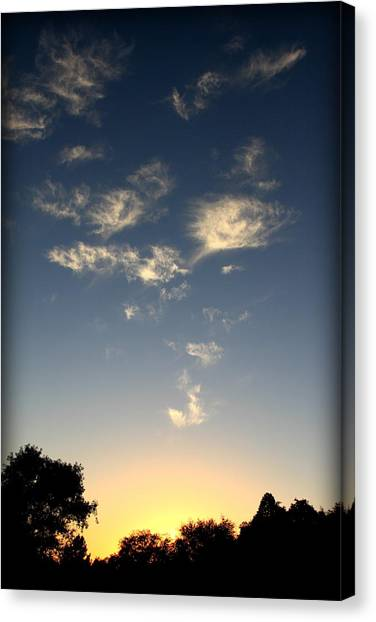 Whimsical Sunset Canvas Print by Michael Curry