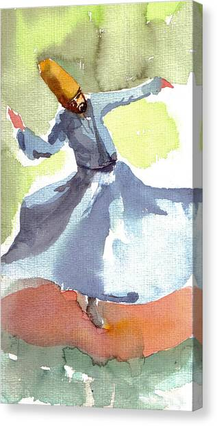 Whirling Dervish Canvas Print