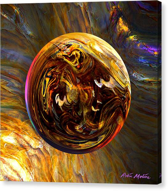 Wood Grain Canvas Print - Whirling Wood  by Robin Moline
