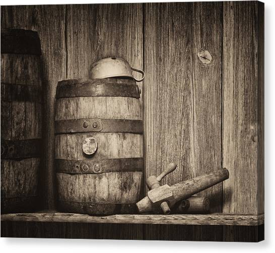 Keg Canvas Print - Whiskey Barrel Still Life by Tom Mc Nemar