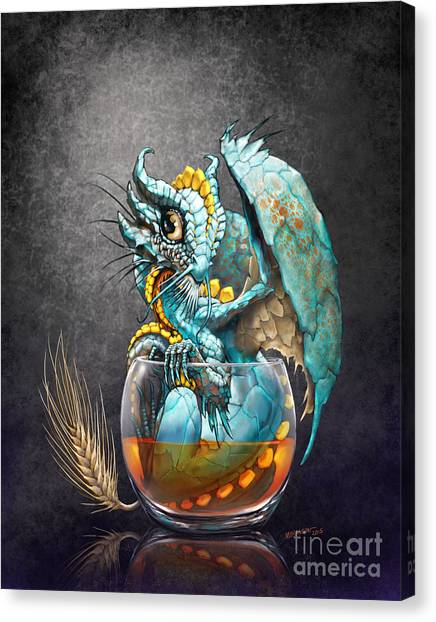 Whiskey Canvas Print - Whiskey Dragon by Stanley Morrison