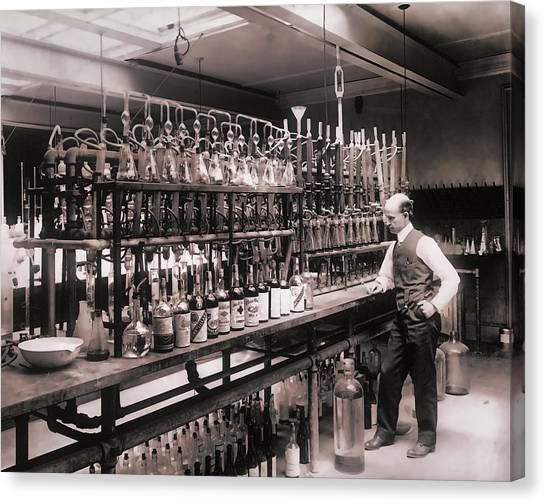 Drunk Canvas Print - Whiskey Test Lab  1914 by Daniel Hagerman