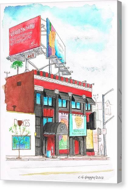 Whisky-a-go-go In West Hollywood - California Canvas Print
