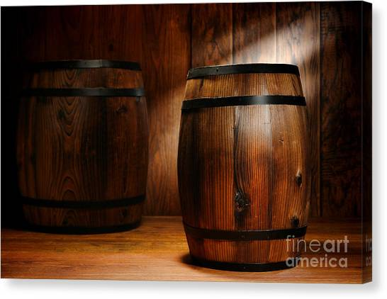 Warehouses Canvas Print - Whisky Barrel by Olivier Le Queinec