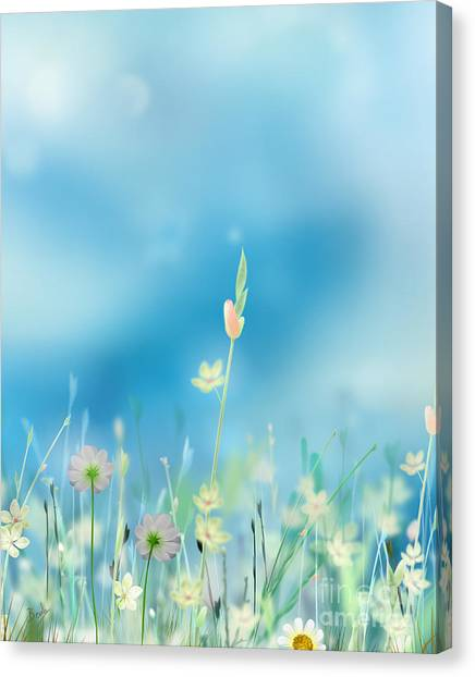 Fuzzy Canvas Print - Whispering Heaven by Peter Awax