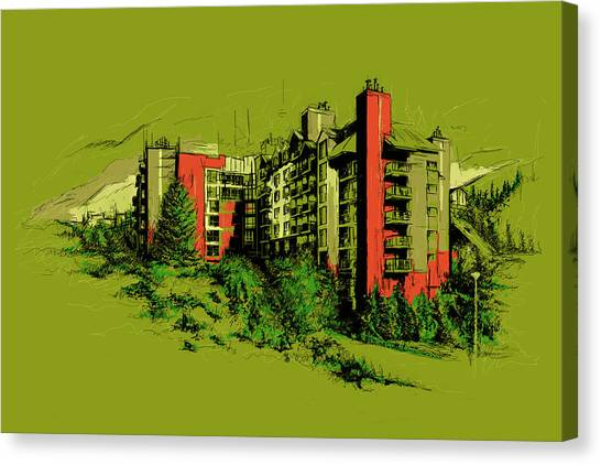 Vancouver Skyline Canvas Print - Whistler Art 003 by Catf