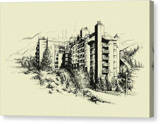 Vancouver Skyline Canvas Print - Whistler Art 007 by Catf