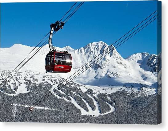 Whistler Blackcomb Peak To Peak Canvas Print