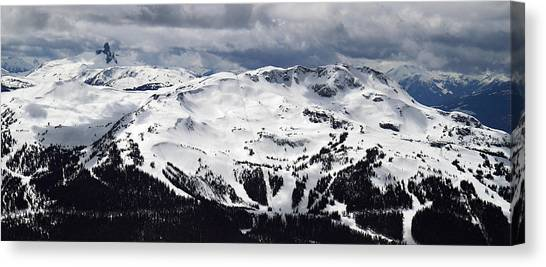 Whistler Mountain View From Blackcomb Canvas Print