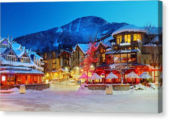 Whistler Village  Canvas Print