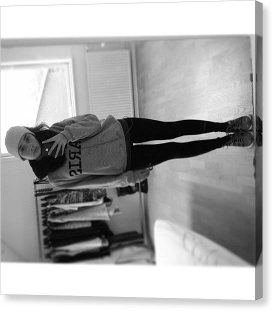 Irises Canvas Print - #whitagram #running #grey #bad #weather by Iris Gronbak