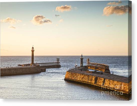 Harbour Canvas Print - Whitby Harbour North Yorkshire England by Colin and Linda McKie