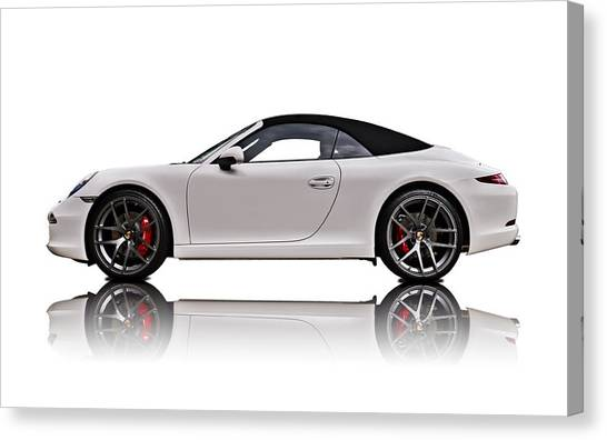 German Canvas Print - White 911 by Douglas Pittman