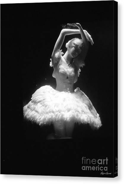 White Ballerina Canvas Print