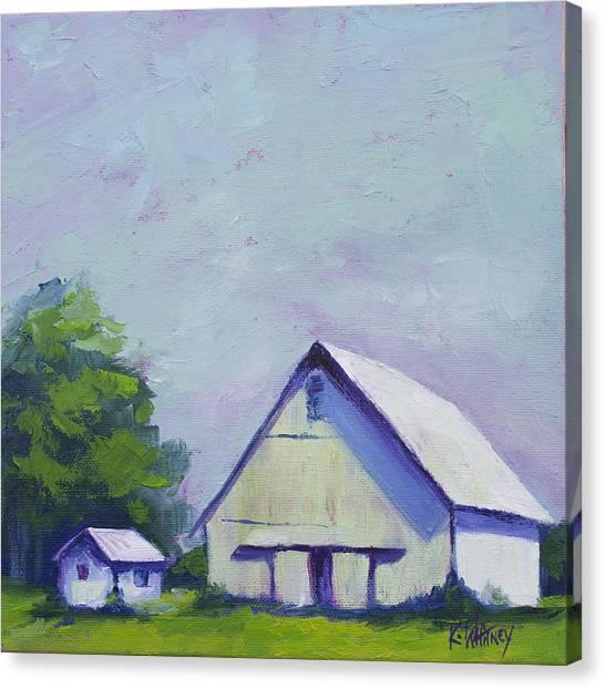 Barns Canvas Print - White Barn by Kristin Whitney