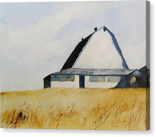 White Barn Canvas Print by William Beaupre