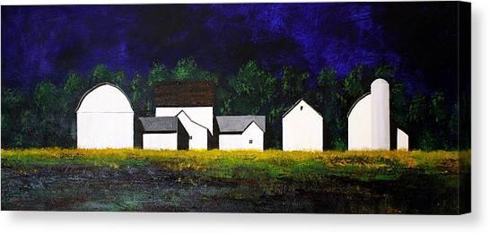 White Barns Canvas Print
