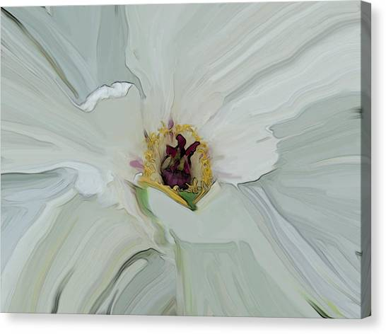 White Bloom Canvas Print