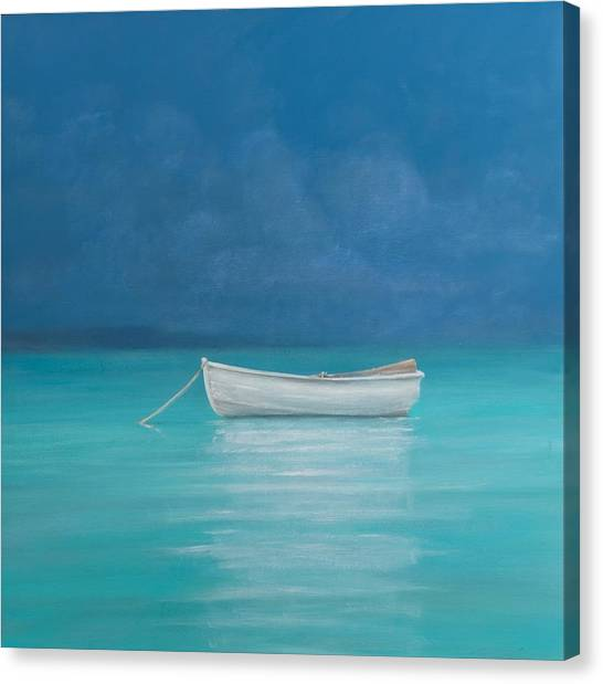 Kenyan Canvas Print - White Boat Kilifi  by Lincoln Seligman