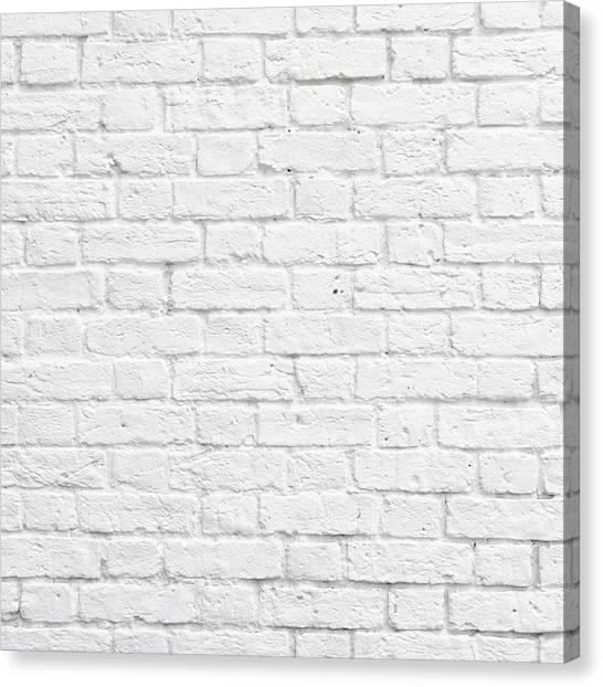 White Brick Wall Canvas Print