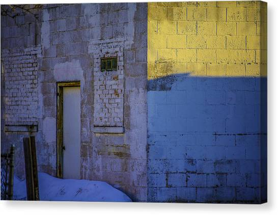 White Building Canvas Print