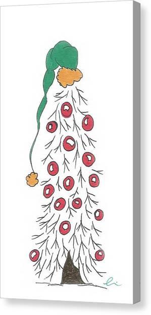 White Christmas Tree 2 Canvas Print