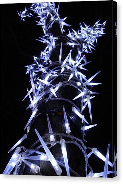 White Christmas Tree Canvas Print by Michel Mata
