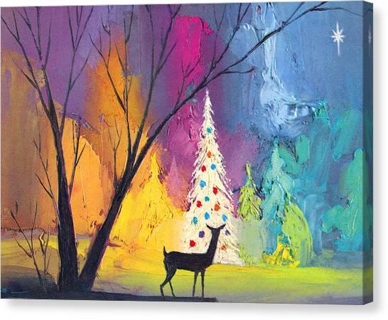 White Christmas Tree Canvas Print