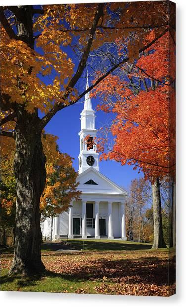 White Church Canvas Print
