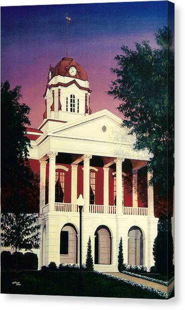 White County Courthouse Canvas Print