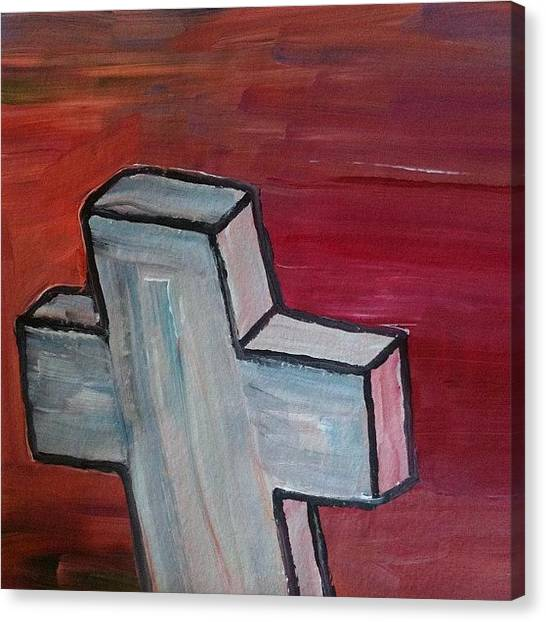 Expressionism Canvas Print - White Cross by Stephen Lock