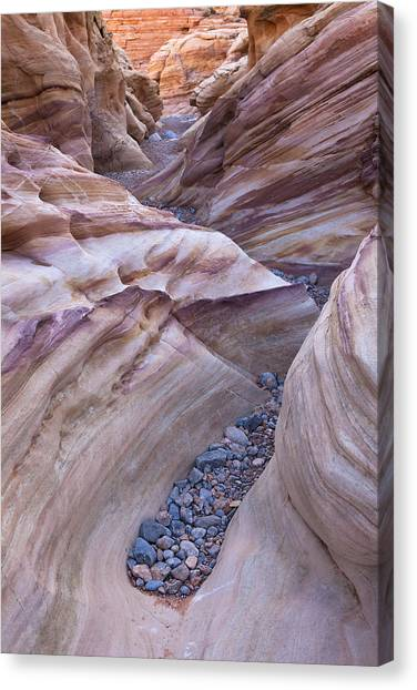 White Domes Slot Canyon - Vertical Canvas Print