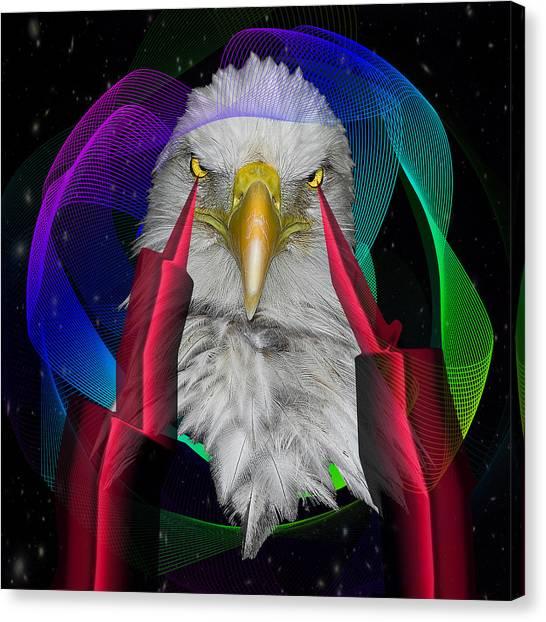 Cavity Canvas Print - white Eagle face by Mark Ashkenazi