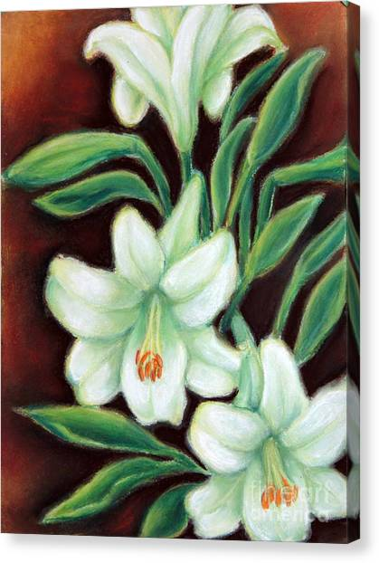 White Elegance Canvas Print