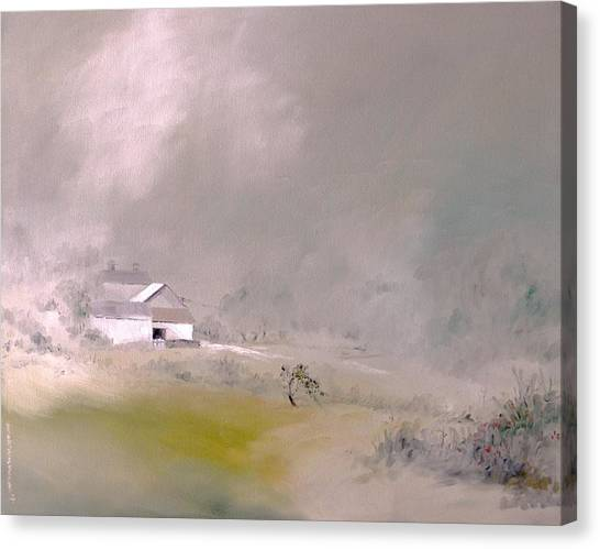White Farm Canvas Print