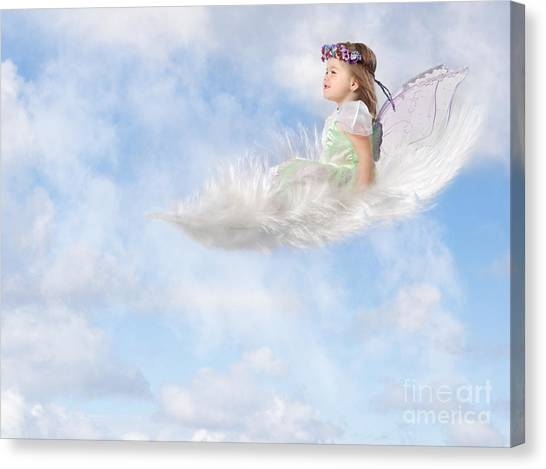 White Feather Dream Canvas Print