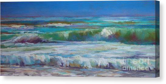 White Foam Canvas Print by Virginia Dauth