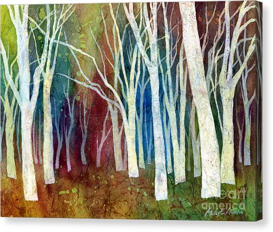 Trees Canvas Print - White Forest I by Hailey E Herrera