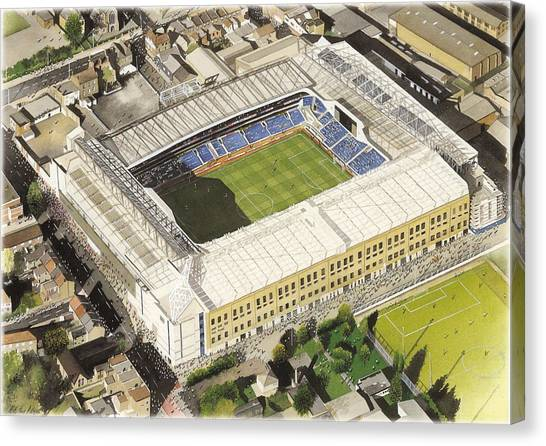 Spurs Canvas Print - White Hart Lane - Tottenham Hotspur Fc by Kevin Fletcher