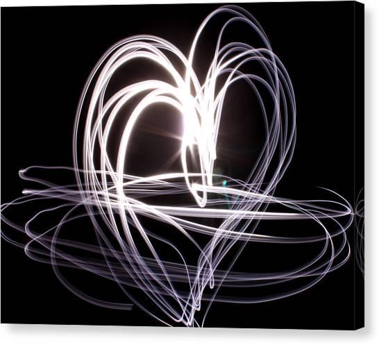 White Heart Canvas Print by Aya Murrells