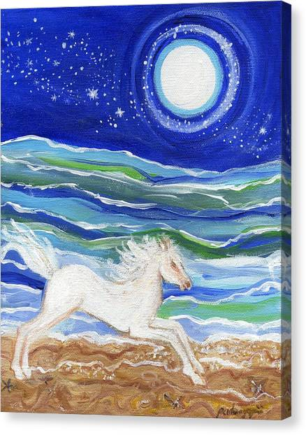 White Horse Of The Sea Canvas Print