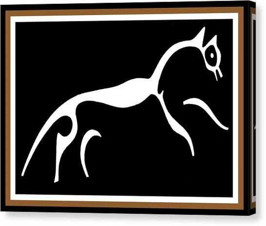 White Horse Of Uffington Canvas Print