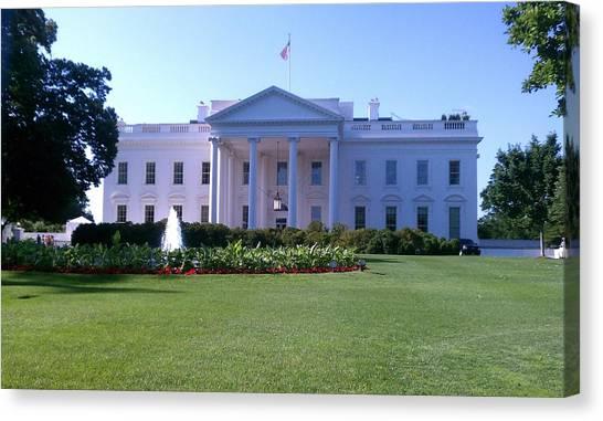White House Canvas Print - White House by Johanna Ihli