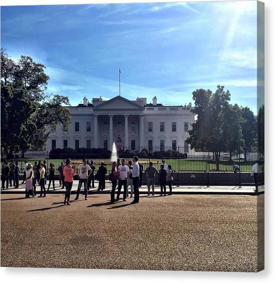 Washington Capitals Canvas Print - White House Protest by Brandon McCain