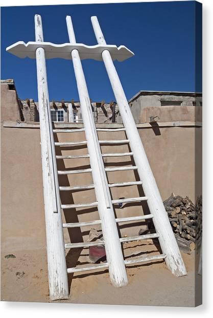 White Ladder Canvas Print